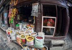 Street market in Kathmandu Royalty Free Stock Photo