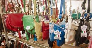 Street market La Ciotat Bags Stock Photography
