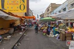 Street market in La Paz, Bolivia royalty free stock photos