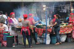 Street market in Leon, Nicaragua royalty free stock photography