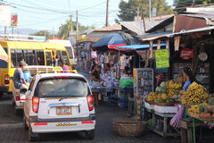 Street market in Leon, Nicaragua royalty free stock images