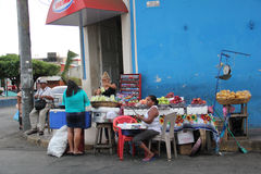 Street market in Leon, Nicaragua royalty free stock photos