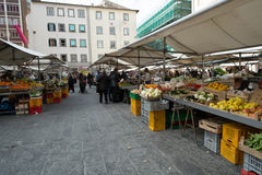 Street market in Livorno, Italy Stock Photo