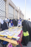Street market. MEDINA, SAUDI ARABIA - MAR 06: Street market outside of Baqee grave at March 06, 2015 in Arafat, Saudi Arabia. Jannat Al-Baqee is one of the Stock Image