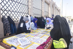 Street market. MEDINA, SAUDI ARABIA - MAR 06: Street market outside of Baqee grave at March 06, 2015 in Arafat, Saudi Arabia. Jannat Al-Baqee is one of the Royalty Free Stock Photo