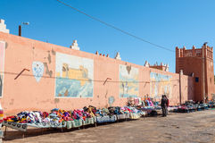 Street market in Moroccan town Stock Image