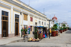 Street market in old town of Cienfuegos, Cuba Royalty Free Stock Images