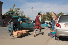 Street market in Osh Royalty Free Stock Images