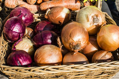 Street market place. Vegetables and spices. Royalty Free Stock Photography