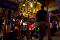 Street market, Puerto Lopez, popular vacation spot Royalty Free Stock Images
