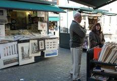 Street market in Rome Stock Photos