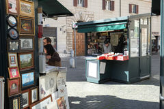 Street market in Rome Royalty Free Stock Photo