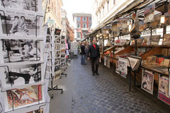 Street market in Rome, Italy Royalty Free Stock Image