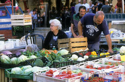 Street market in Rome, Italy Royalty Free Stock Images