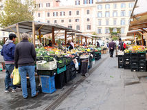 Street market in Rome, Italy Stock Image