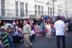 Street market in San Salvador Royalty Free Stock Photo