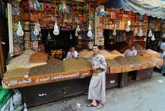 Street market in Sanaa Royalty Free Stock Photos