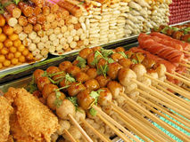 Street market snacks thai food market bangkok stock photo