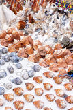 Street market - Souvenirs. Of Cartagena, Colombia - Key chains and seashells Royalty Free Stock Photography