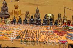 Street market with souvenirs Royalty Free Stock Photography
