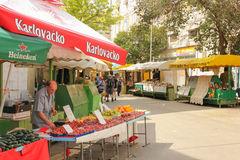 Street market. Split. Croatia Stock Photography