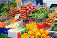 Street market stall stock images