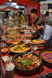 Street market stall Indian food Stock Images