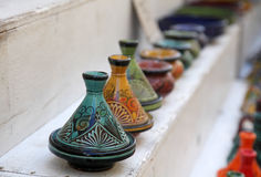 Street market stand. A street market in the city of fez, morocco Stock Images