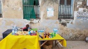 Street market in Stone town,  Zanzibar,  Tanzania Stock Photo