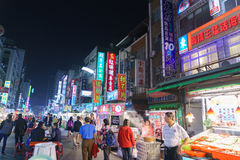 Street market of Taiwan Royalty Free Stock Image