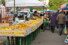 Street market. Tours . France Stock Image