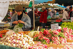Street market. Tours . France Royalty Free Stock Photos