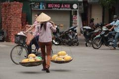 Street Market in Vietnam Stock Image