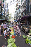 Street Market in Yangon Stock Photos