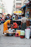 Street Market in Yangon Stock Photos