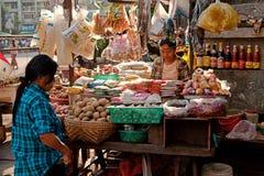 Street Market in Yangon Royalty Free Stock Image