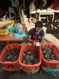 Street Market in Yangon Stock Photography