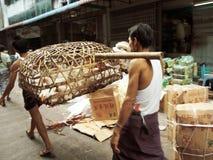 Street Market in Yangon Royalty Free Stock Photo