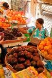 Street Market in Yangon Stock Photo