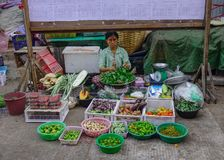 Street market in Yangon, Myanmar royalty free stock images