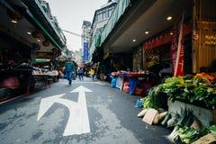 Street market in the Zhongzheng District, Taipei, Taiwan. Royalty Free Stock Photos