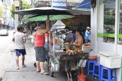 Street markets in Rama 4 Bangkok Thailand Royalty Free Stock Images