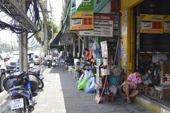 Street markets in Rama 4 Bangkok Thailand Stock Images