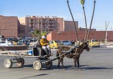 Street of Marrakech, Morocco Royalty Free Stock Photo
