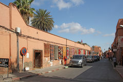Street in Marrakesh, Morocco royalty free stock image