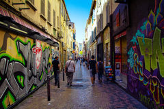 Street in Marseille Royalty Free Stock Photography
