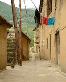 Street in Masuleh village Stock Images