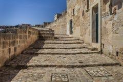 Street in Matera, Italy Stock Image