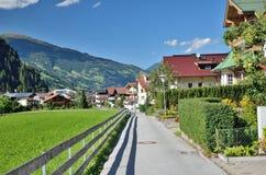 Street in Mayrhofen, Austria. Stock Image