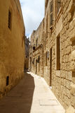 Street in Mdina Royalty Free Stock Photo